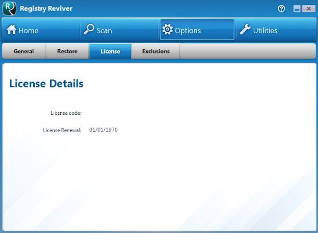 تفعيل برنامج Registry Reviver 4.20.1.8 لاصلاح مشاكل الكمبيوتر