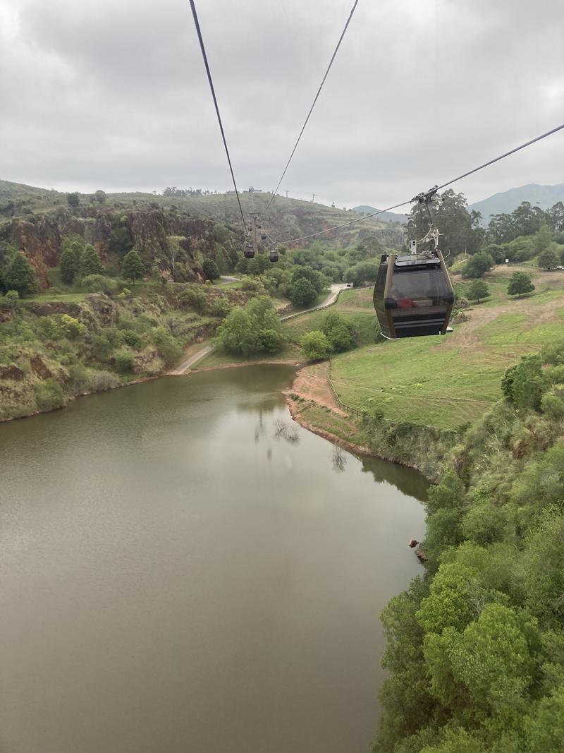 Parque natural Cabárceno teleferico
