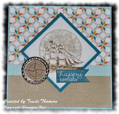 birthday card, Open Ocean, Stamp with Trude, Stampin' Up!, Mojo Monday