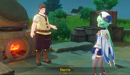 Speak with Harris in Howling Winds Highlands.