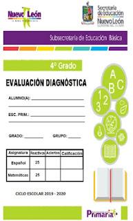 Exámenes de Diagnostico para Primaria 2019-2020 todos los grados