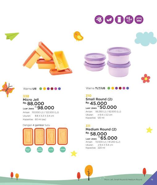 Micro Jell, Small Medium Round, Katalog Tulipware 2019