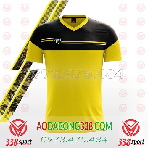 Áo Đá Bóng Không Logo Fegan Maron SDD01 Vàng