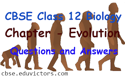 CBSE Class 12 - Biology - Chapter - Evolution - Questions and Answers (#class12Bioogy)(#eduvictors)