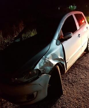 EM ITAPIPOCA-CE:  Embriagado e sem CNH, motorista é preso após bater contra duas viaturas da PRF