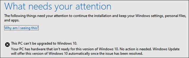 إصلاح مشكلة لا يمكن ترقية هذا الكمبيوتر إلى نظام ويندوز 10