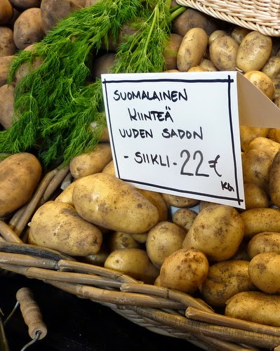 Finnish New Potatoes from the Kauppatori in Helsinki