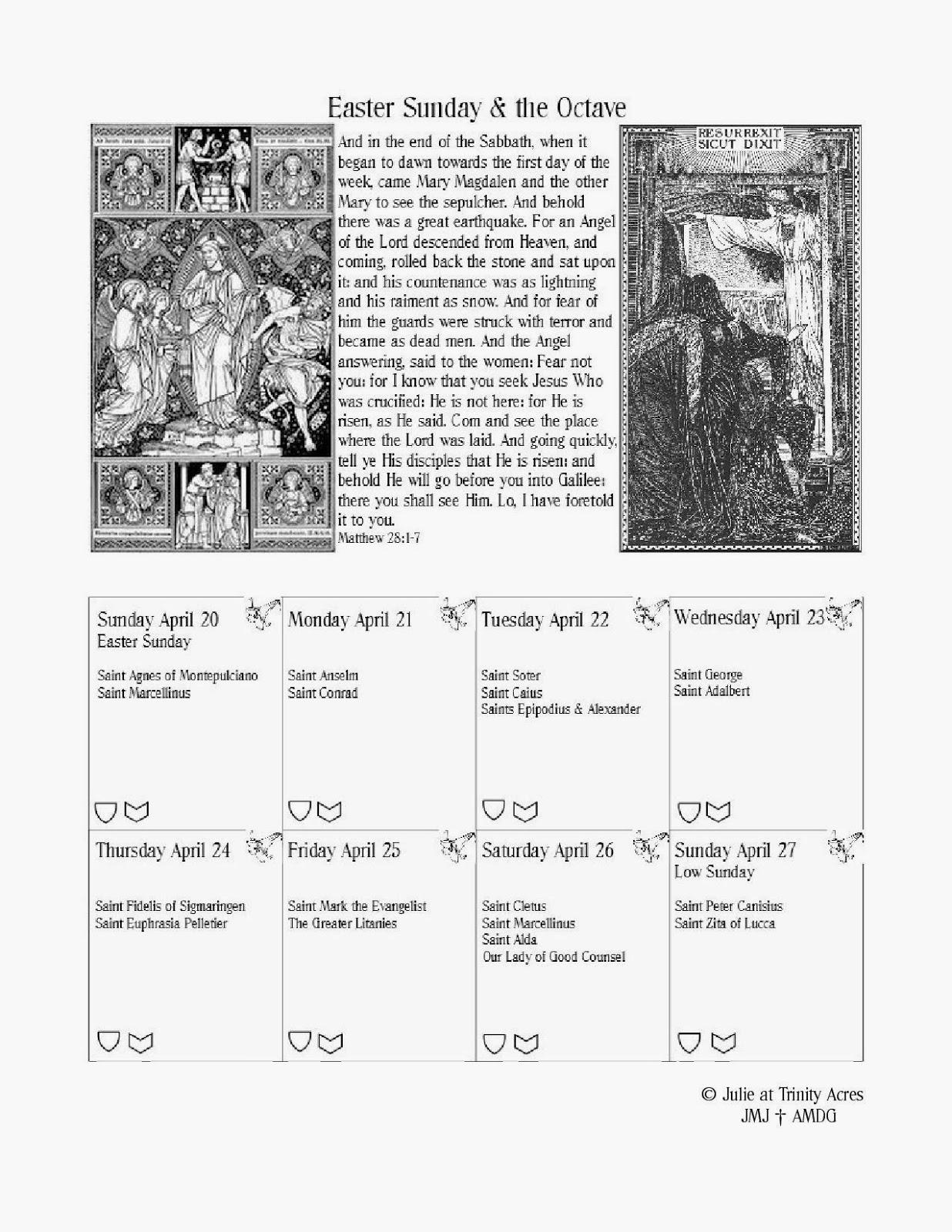 TRINITY ACRES: Lenten Calendar
