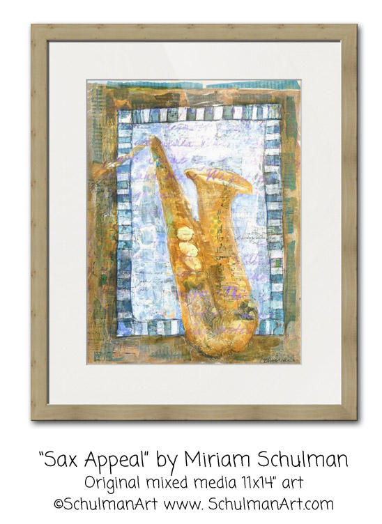 saxophone painting http://www.miriamschulmanstudio.com/musical-art/sax-appeal.html