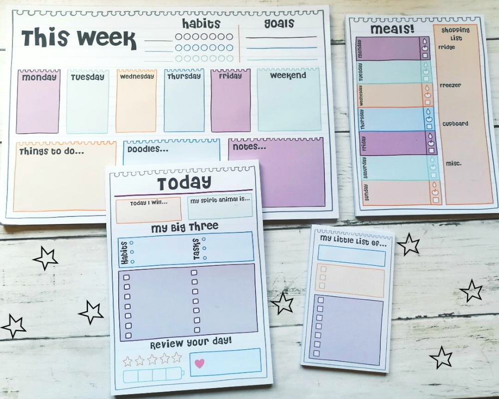 Productivity Pads from Oops A Daisy