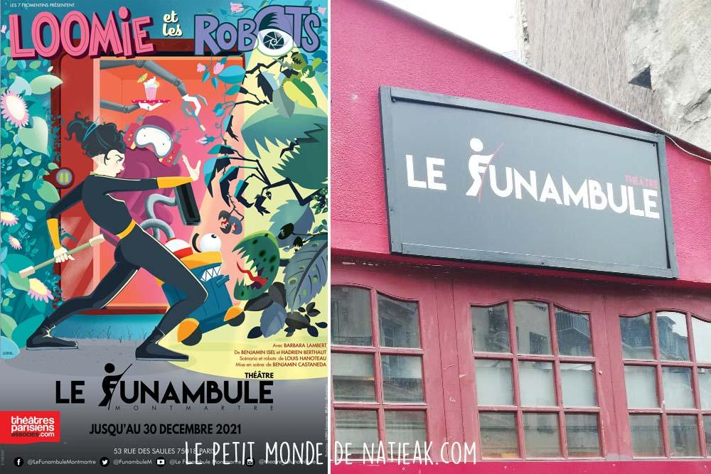 Loomie et les robots Théâtre Le Funambule Montmartre Paris