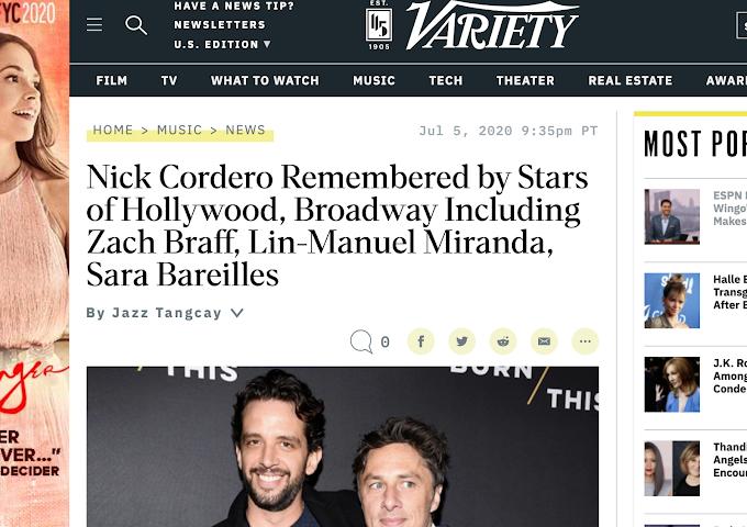 Television Actor Nick Cordero Covid-19 Death Creates Zach Braff Moment That Cuts Through