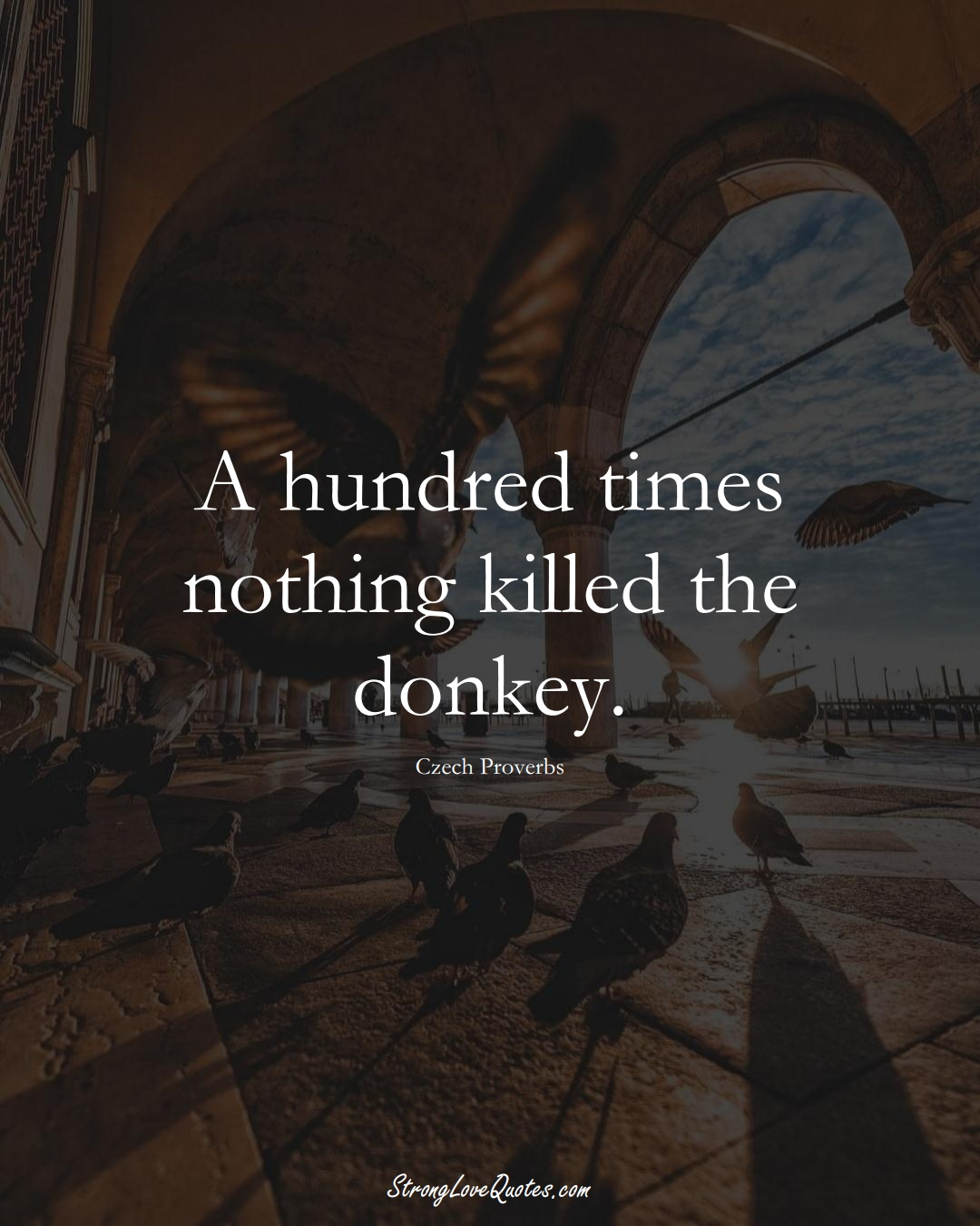 A hundred times nothing killed the donkey. (Czech Sayings);  #EuropeanSayings