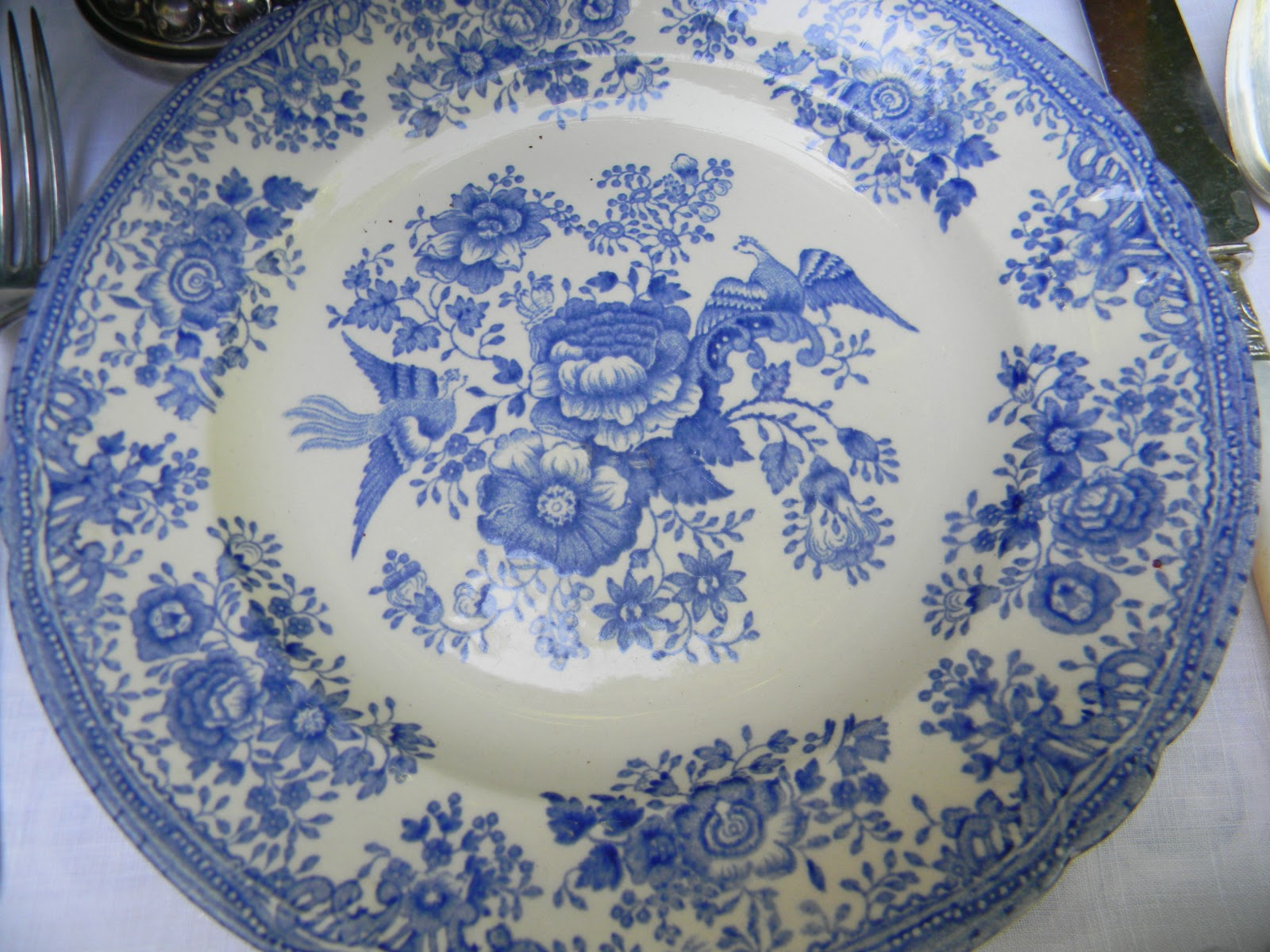 A Toile Tale: Blue and White Hydrangeas with Asiatic Pheasant