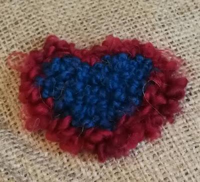 rug hooking - Echoed Heart