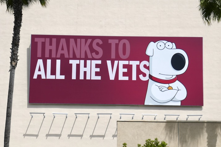 Thanks to all the Vets Family Guy billboard
