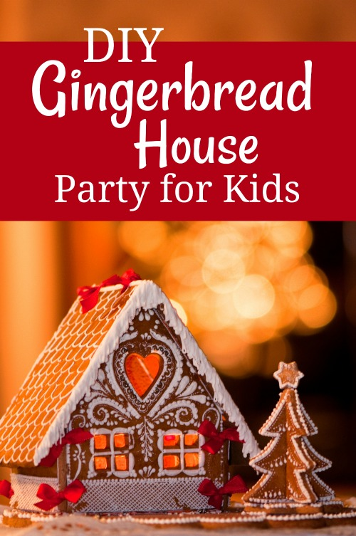 DIY Gingerbread House Party for Kids #christmas