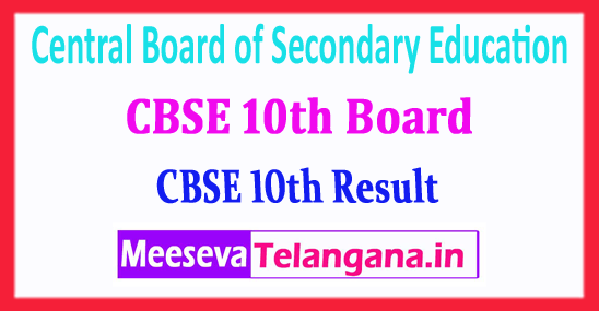 CBSE 10th Central Board of Secondary Education 10th Result 2018