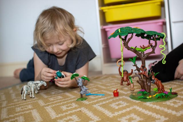 Playing with the Orangutan Playmobil set