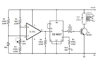 KUMPULAN SKEMA ELEKTRONIKA: Sensor Suara