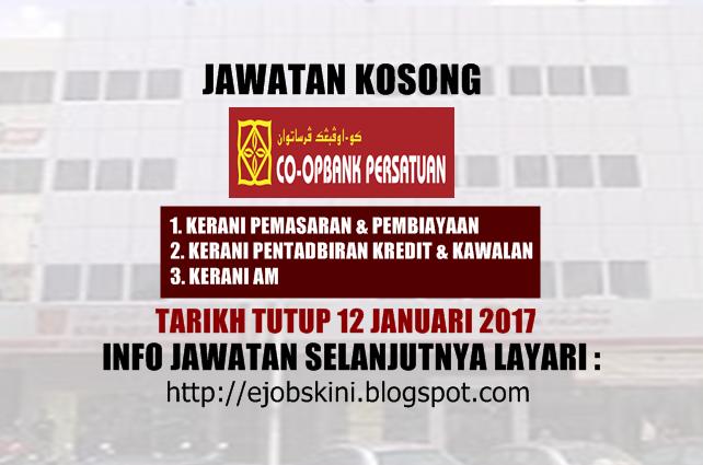 Koperasi Bank Persatuan Malaysia Berhad Januari 2017