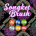 Songket Brush Pattern