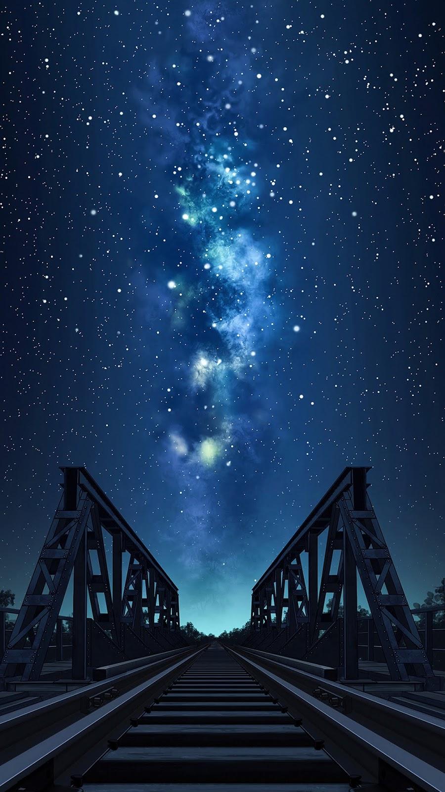 Starry night under the bridge
