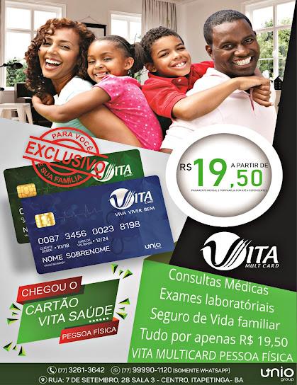 cartão Vita Saúde- O cartão que toda família precisa ter