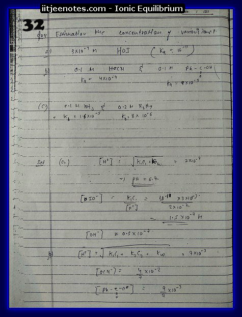 Ionic Equilibrium Notes16