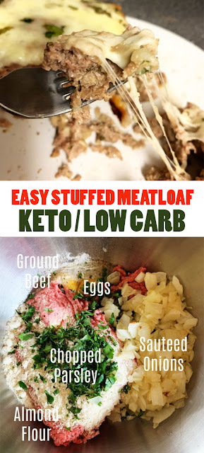 #EASYRECIPE STUFFED #MEATLOAF – #KETO / #LOWCARB