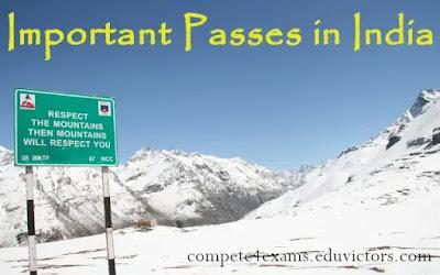 General Awareness: Important Passes in India (#generalawareness)(#India)(#compete4exams)(#eduvictors)