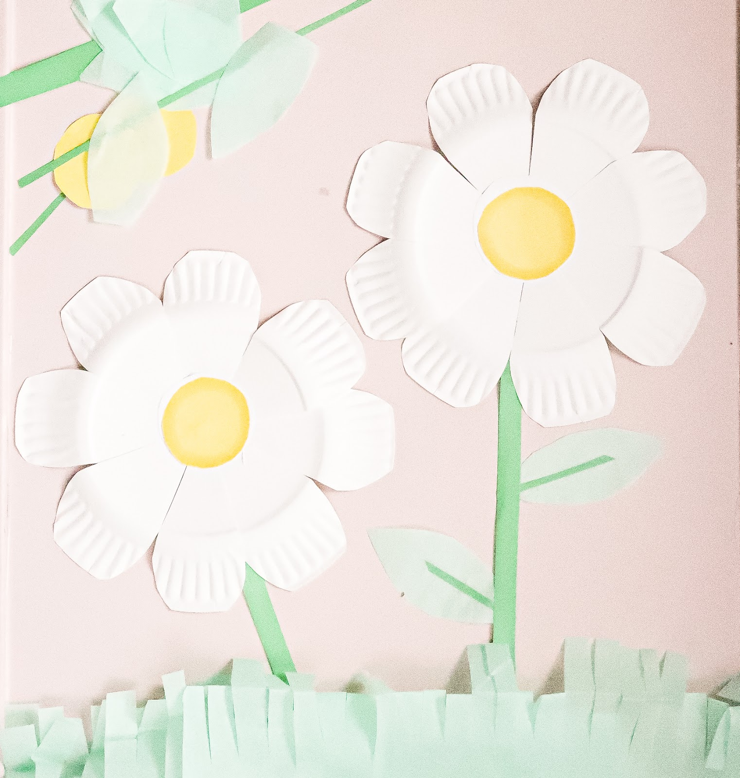 paper plate craft daisy