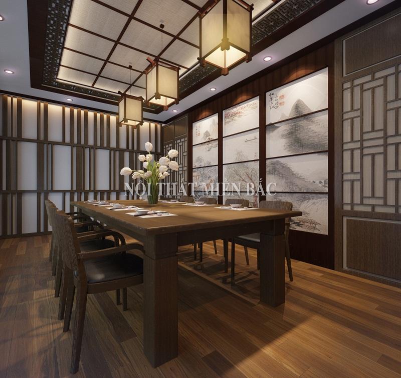 Thiết kế nhà hàng Hàn Quốc phòng VIP sang trọng