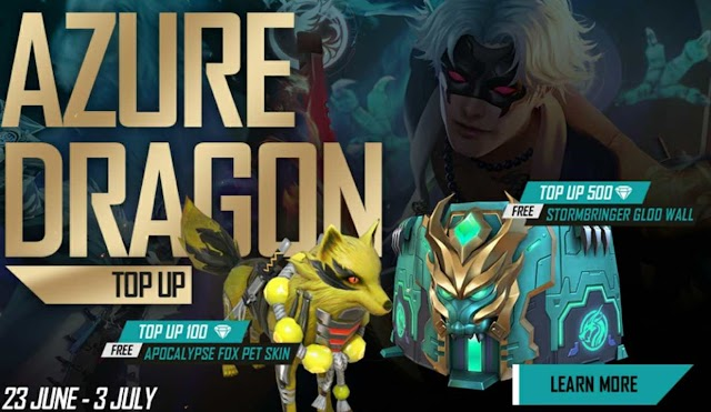Azure Dragon Top-up Free Fire Redeem Code Today