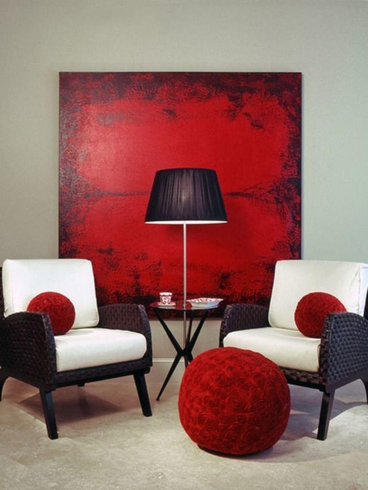 Best Red Living Rooms Interior Design Idea