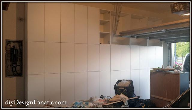 garage, garage cabinets, Ikea Sektion, Ikea, Cottage, Garage Organization