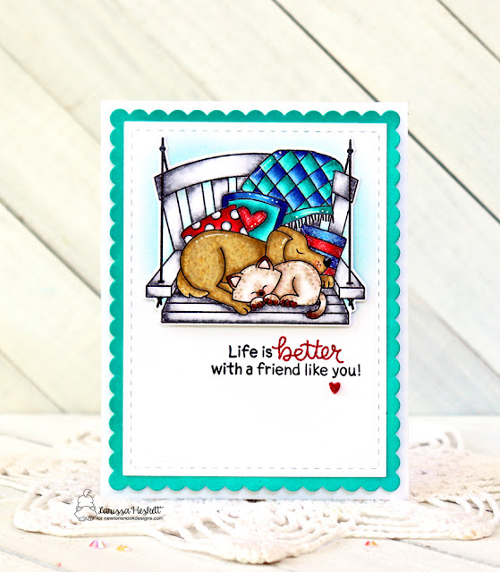 Life is Better by Larissa Heskett for Newton's Nook Designs using Porch Swing Friends and Frames and Flags Die Set #newtonsnook #newtonsnookdesigns #porchswingfriends