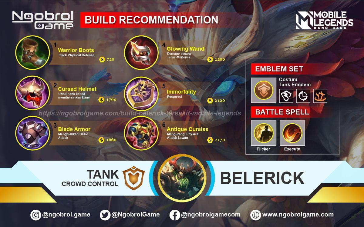 Build Belerick Tersakit 2021 Mobile Legends