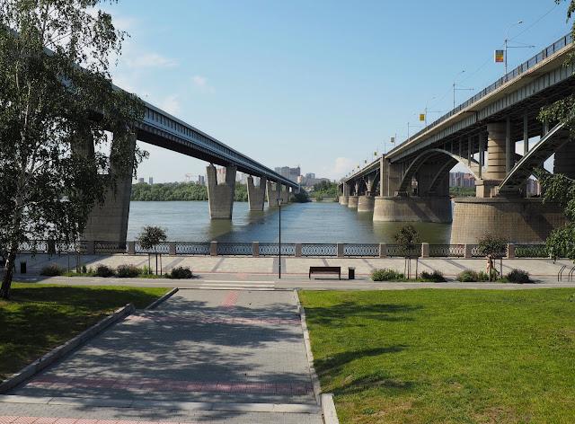 Новосибирск, мосты через Обь (Novosibirsk, bridges across the Ob)