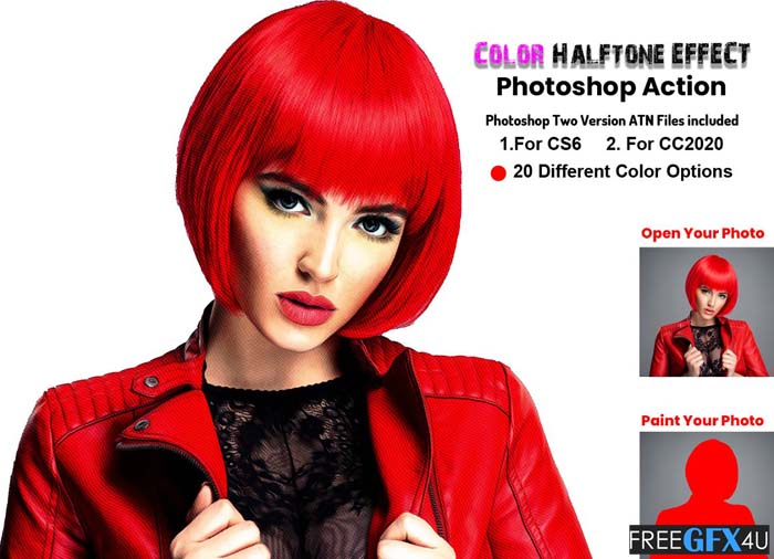Color Halftone Effect PS Action
