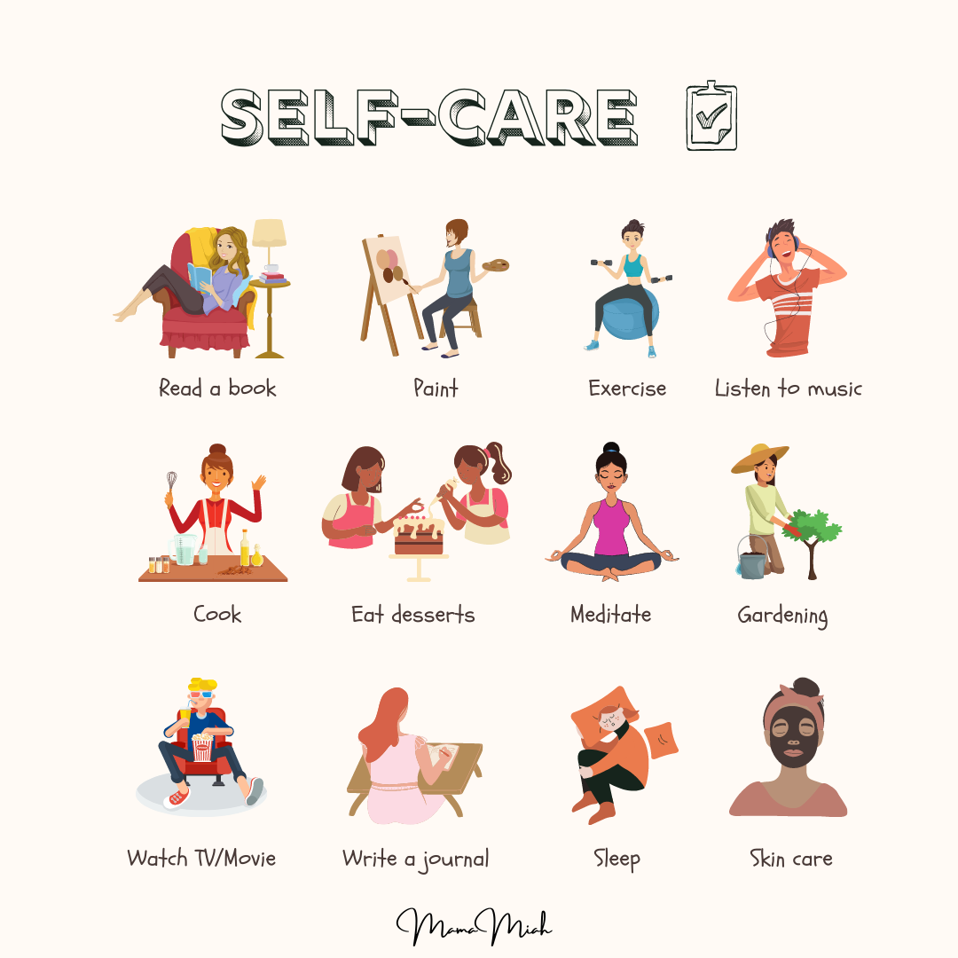 Self Care Checklist, Tips, and Ideas