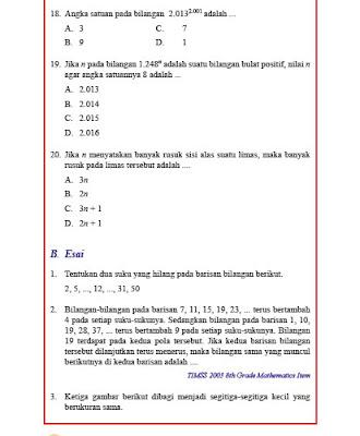 kunci jawaban matematika kelas 8 smp/mts uji kompetensi 1