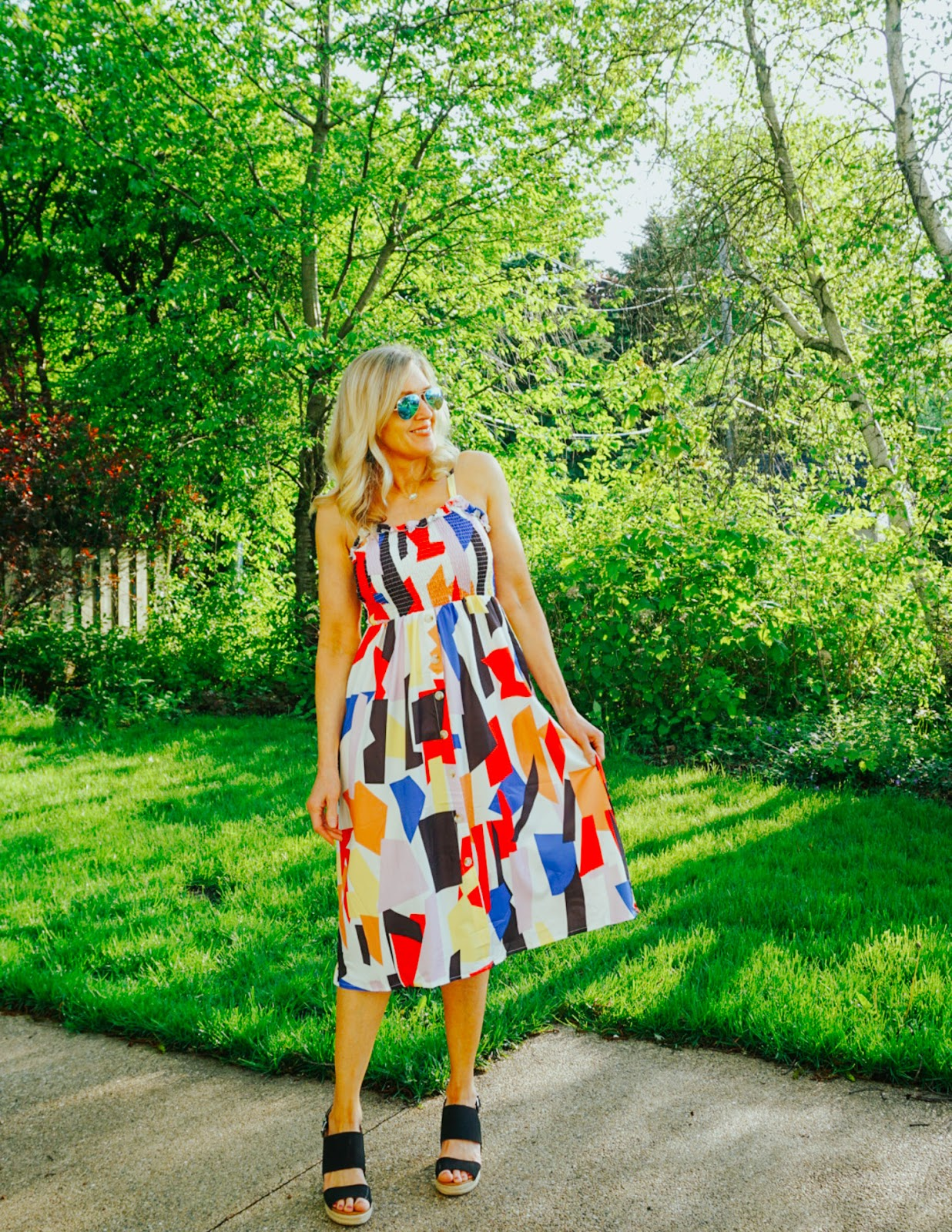 Geometric Print Sundress