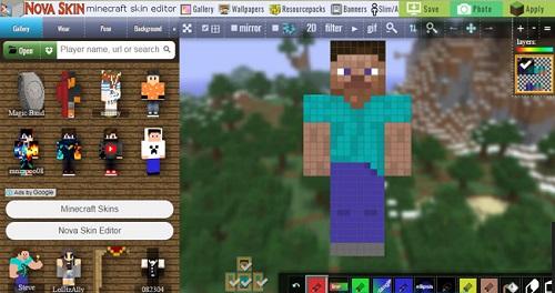 Giao diện wapsite Nova Skin với tương đối nhiều skin sẵn có để gamer lựa chọn