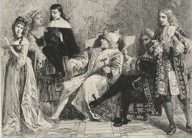 Le Malade imaginaire, dessin par Lalauze