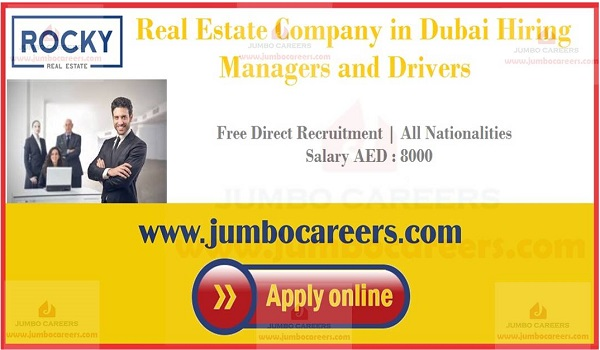 Real estate job openings in UAE, Eligibility criteria of latest Duabi real estate jobs,
