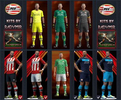 PSV Eindhoven kits 16-17