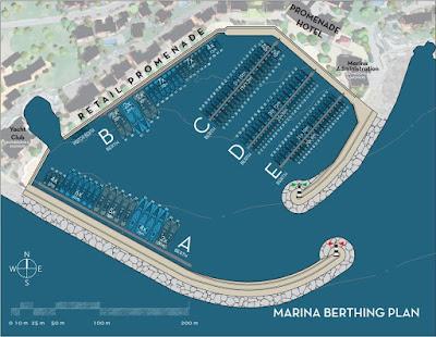 Plan vezova u marini Luštica Bay