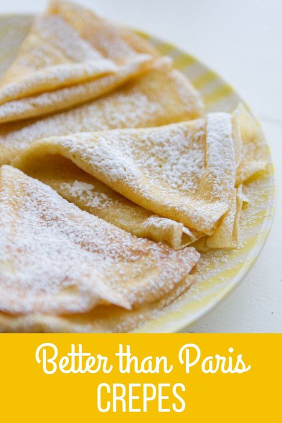 How to make Crepes is easier than you think! Made with only 6 ingredients this Crepe Recipe is even better than Paris Crepes! Enjoy!
