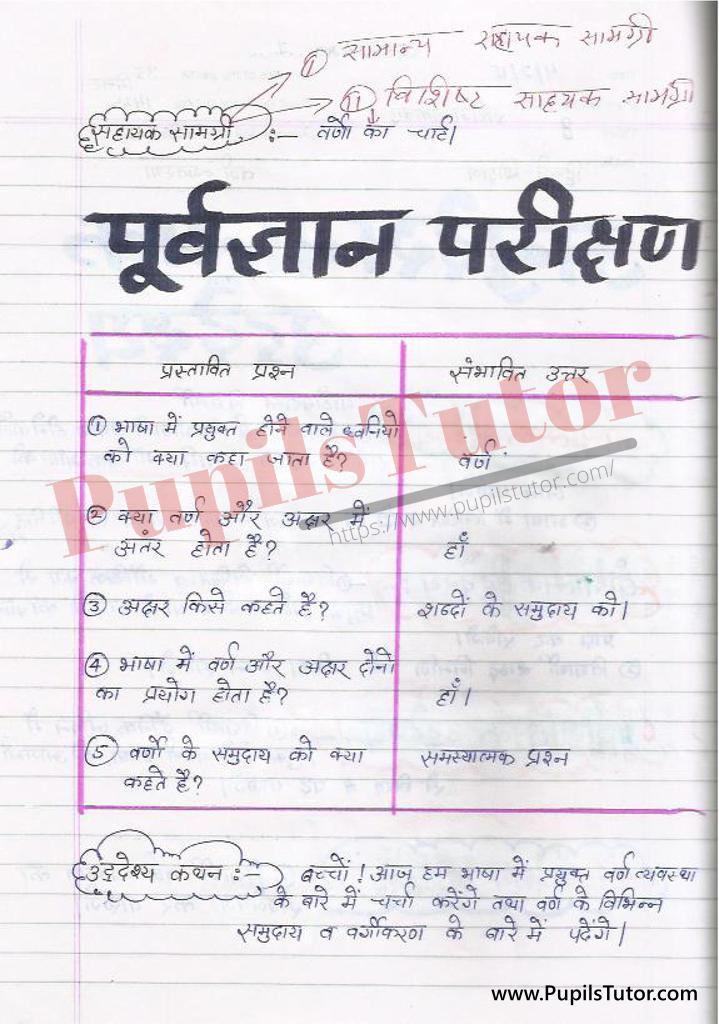 बीएड ,डी एल एड 1st year 2nd year / Semester के विद्यार्थियों के लिए हिंदी की पाठ योजना कक्षा 4,5,6 , 7 , 8, 9, 10 , 11 , 12   के लिए वर्ण माला टॉपिक पर